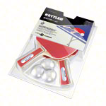 KETTLER table tennis racket-set Match: 2 table tennis rackets + 3 table tennis balls