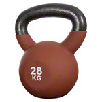 Kettle bell, 28 kg, brown