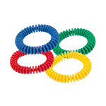 Lamellar ring made of PVC, ø 16 cm, Set of 4: once blue, green, red, yellow