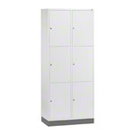 Large-locker with 6 compartments, HxWxD 195x82x49 cm