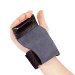 Lat pull support made of leather with Velcro fastener, pair