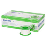 Leukosilk roll plaster without cover, 5 m x 2,5 cm, 12 pieces
