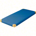 Lightweight gym mat with leather corners, 200x100x6 cm