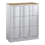 Locker Resisto with 9 compartments, HxWxD 125x115x54 cm