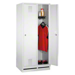Locker cabinet with 2 compartments, compartment width 40 cm