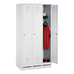Locker cabinet with 3 compartments, compartment width 30 cm