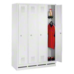 Locker cabinet with 4 compartments, compartment width 40 cm