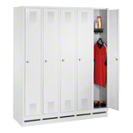 Locker cabinet with 5 compartments, compartment width 30 cm
