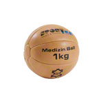 Medicine ball made of leather, Ø 19 cm, 1kg