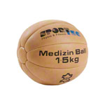 Medicine ball made of leather, Ø 22 cm, 1.5 kg