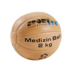 Medicine ball made of leather, Ø 23 cm, 2 kg