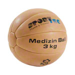Medicine ball made of leather, Ø 26 cm, 3 kg