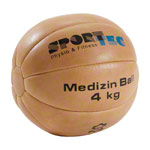 Medicine ball, made of leather, Ø 28 cm, 4 kg