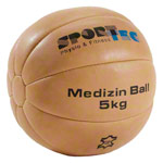 Medicine ball made of leather, Ø 30 cm, 5 kg