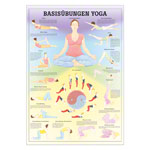 Mini-Poster - basic exercises yoga, - L x W 34x24 cm