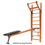 NOHrD Combi-Trainer for wall bars, cherry