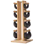 NOHrD Swing Tower incl. 8 Swing dumbbells, 26 kg, ash