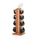 NOHrD Swing Tower incl. 8 Swing dumbbells, 26 kg, cherry