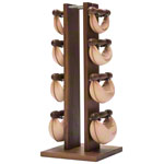 NOHrD Swing Tower incl. 8 Swing dumbbells, 26 kg, nut tree