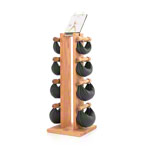 NOHrD Swing Tower incl. 8 Swing dumbbells, 26 kg, oak