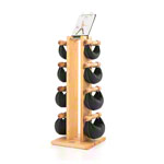 NOHrD Swing Tower incl. 8 Swing dumbbells, 40 kg, ash