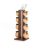 NOHrD Swing Tower incl. 8 Swing dumbbells, 40 kg, nut tree