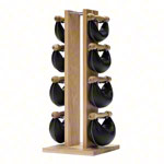 NOHrD Swing Tower incl. 8 Swing dumbbells, 40 kg, oak
