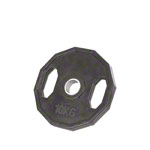 Olympia weight plate with rubber cover and handle, Ø 5 cm, 10 kg, one piece