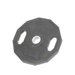 Olympia weight plate with rubber cover and handle, Ø 5 cm, 15 kg, one piece