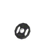 Olympia weight plate with rubber cover and handle, Ø 5 cm, 2.5 kg, one piece