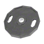 Olympia weight plate with rubber cover and handle, Ø 5 cm, 25 kg, one piece