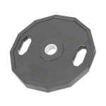 Olympia weight plate with rubber cover and handle, Ø 5 cm, 5 kg, one piece