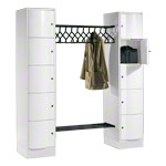 Open wardrobe Resisto for 10 people, large drawers