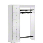 Open wardrobe for 10 people, HxWxD 195x141x48 cm