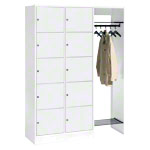 Open wardrobe for 10 people, HxWxD 195x185x48 cm