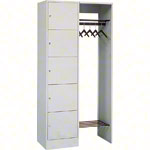 Open wardrobe for 5 people, HxWxD 195x96x48 cm