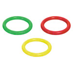 PVC diving ring, Ø 17 cm, 4-pieces