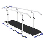 Parallel bars exclusive beam length 2.5 m made of metal