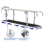 Parallel bars exclusive, extra deep, beam length 3 m made of metal