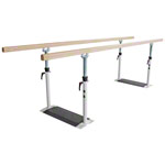 Parallel bars standard, bar length 3 m, bar made of wood