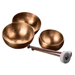 Peter Hess singing bowls-set large, 3 cups + 2 mallets