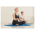 Pilates and yoga mat, LxWxH 140x60x0.6 cm, blue