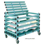 Plastic storage cart, with cover, mobile