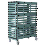 Plastic trolley, lockable, mobile