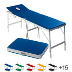 Portable Massage Table Alumed incl. headboard and nose slit LxWxH 184x55x70-79 cm