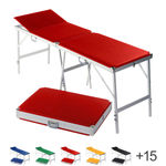 Portable Massage Table alumed incl. headboard, LxWxH 184x55x70-79 cm