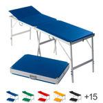Portable Massage Table alumed incl. headboard, LxWxH 189x60x70-79 cm