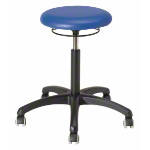 Rotatory stool standard with cushion and wheels