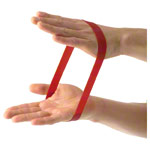 Rubber band, medium, red