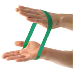 Rubber band, strong, green